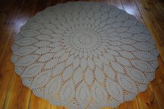 Doily round rug, 73''(186 cm)/Rugs/Rug/Area Rugs/Floor Rugs/Large Rugs/Handmade Rug/Carpet/Wool Rug by AnuszkaDesign on Etsy