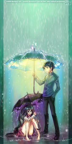 Woman Under Umbrella draw | Come Under My Umbrella by yuumei