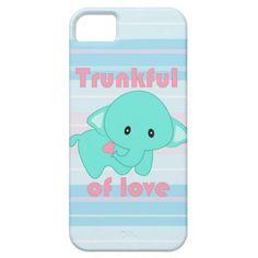 Cute Baby Elephant Kawaii iPhone case by Rooshoo!