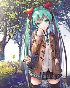 Vocaloid - Hatsune Miku art by AJIGO (Danbooru)
