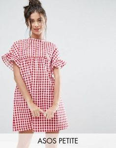 Buy ASOS PETITE Red Gingham Smock Dress at ASOS. China Wholesale Clothing, Wholesale Boutique Clothing, Casual Day Dresses, Sexy Dresses, Short Sleeve Dresses, Party Dresses, Gingham Dress, Red Gingham, Dress Red