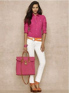 ralph lauren polo oxford shirt woman | ... &Outwear / Polo Ralph Lauren Shirts Women Slim Fit Oxford Fuschia
