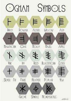Ogham Symbols - Cher Pratley                                                                                                                                                                                 More
