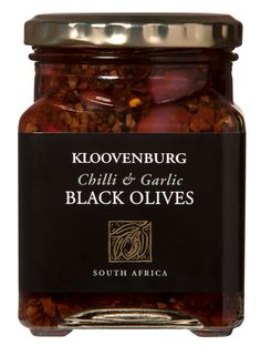 Kloovenburg Chilli & Garlic Black Olives