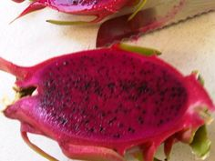 Dragon fruit. Not a lot of taste but juice the colour of beetroot.