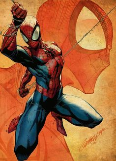 Fantastic artwork of Spiderman by my favourite artist, J Scott Campbell All Spiderman, Amazing Spiderman, Batman, J Scott Campbell, Comic Art, Comic Books Art, Book Art, Marvel Comics Art, Marvel Heroes