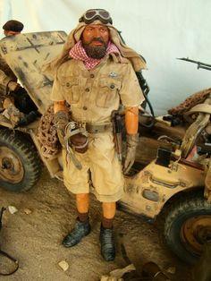 Sas Special Forces, Desert Diorama, Diorama Militar, Colorized Historical Photos, Gi Joe 1, 40k Armies, British Army Uniform, Military Action Figures, Military Modelling