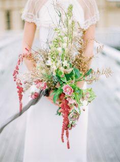 Swedish Seaside Winter Wedding Inspiration - Bridal bouquet