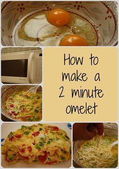 Easy omelets in the microwave.  Perfect for busy school mornings.