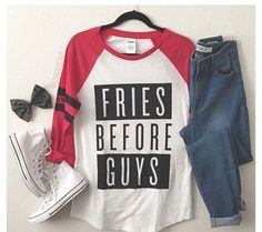Sports Event: the baseball tee and converse adds a sport vibe, the bow adds a sassy vibe.