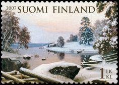 Talvimaisema vuoden kaunein postimerkki   Kotimaan uutiset ...