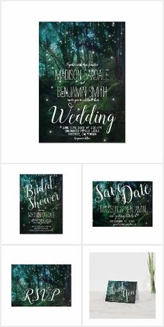 Enchanted Forest Wedding Invitations Fairy Lights #weddinginvitations #weddinginvites Forest Wedding Invitations, Wedding Invitations Online, Wedding Invitation Templates, Invites, Fairy Lights Wedding, Enchanted Forest Wedding, Trees, Rustic, Wedding Invitation Samples