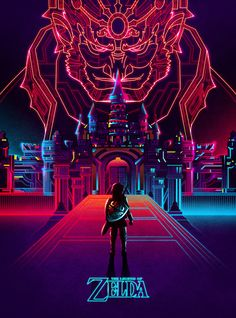Zelda by Van Orton Design - 80s -inspired artwork! #Design #Inspiration