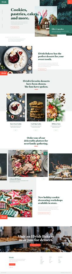 Dribbble - elvishbakery_home.jpg by Leisy Vidal Design Web, Web Design Examples, Food Design, Website Layout, Web Layout, Restaurant Website Templates, Newsletter Design, Landing Page Design, Web Design Inspiration