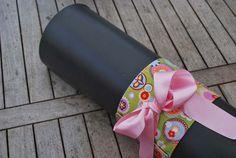 Yoga bow – happy circles (pink bow)