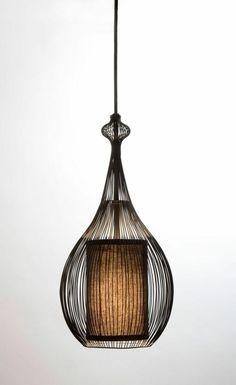 wohnideen bambus möbel deko pendelleuchte