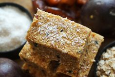 """Tropical Passion Fruit and Coconut Energy Bars, the perfect """"pick me up"""""""