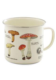 Toadstool for School Mug. Spend your day off exploring your natural baking talent as you savor every scenic detail adorning this enchanting mushroom mug! #multi #modcloth