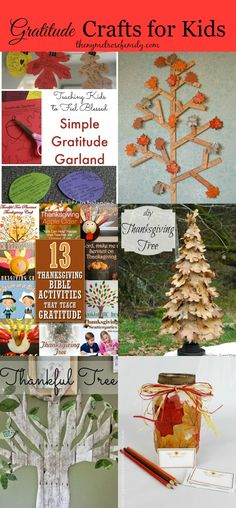 Gratitude Crafts for Kids perfect for an activity for the kids on Thanksgiving