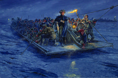 Washington crossing the Delaware by Mort Kunstler. Click on image to ENLARGE.