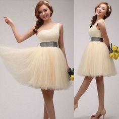 short Prom Dress,one shoulder Prom Dress,beaded Prom Dress,A-line Prom Dress,homecoming Dress, BD772