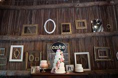 vintage frame cake backdrop l White Dress Events