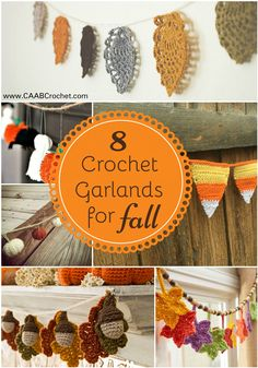 8 Free Crochet Garland Patterns for Fall. From Cute As A Button Crochet & Craft