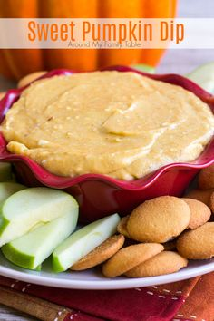 I look forward to making this sweet Pumpkin Dip every fall. It's my requested fall recipe and there is never a bite left. Y'all are gonna love this sweet pumpkin dip with crisp apples, sweet pears, gingersnaps, and graham crackers. Pumpkin Dip, Pumpkin Butter, Pumpkin Dessert, Cranberry Recipes, Fall Recipes, Delicious Recipes, Dip Recipes, Apple Recipes, Pumpkin Recipes