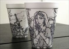 Cheeming Boey's Artistic Journey with Styrofoam Cups and Sharpie Pens Coffee Cup Art, Coffee Cup Design, Styrofoam Art, Sharpie Pens, Sharpies, Graphic Design Tips, Elements Of Art, Art Lessons, Art Projects