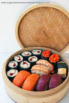 Sugar Sweet Cakes and Treats: Rice Krispie Sushi Treats