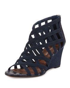 Latest Vince Camuto Sandals   Back Zip Heel Sandals   Neiman Marcus