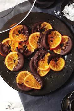 candied orange dipped in chocolate, from sweet paul