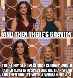 Amy Phoeler And Tina Fey On Gravity