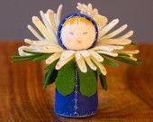 Felt Doll Waldorf Miniature - Blue Eyed Daisy