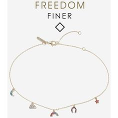 Topshop Finer Rainbow Multi Charm Choker Necklace (285 MXN) ❤ liked on Polyvore featuring jewelry, necklaces, multi, rhinestone choker necklace, charm necklace, rhinestone jewelry, rhinestone necklace and star charms