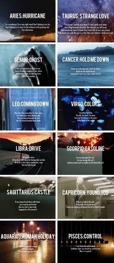 the signs + Badlands songs Scorpio❤