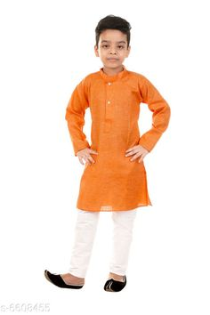 Checkout this latest Kurta Sets Product Name: *Trendy Cotton Boys Kurta Sets* Top Fabric: Cotton Bottom Fabric: Cotton Sleeve Length: Long Sleeves Bottom Type: pyjamas Top Pattern: Solid Multipack: 1 Sizes:  2-3 Years (Chest Size: 24 in, Top Length Size: 20 in, Bottom Waist Size: 22 in, Bottom Length Size: 20 in)  3-4 Years (Chest Size: 25 in, Top Length Size: 22 in, Bottom Waist Size: 22 in, Bottom Length Size: 21 in)  4-5 Years (Chest Size: 26 in, Top Length Size: 24 in, Bottom Waist Size: 22 in, Bottom Length Size: 22 in)  5-6 Years (Chest Size: 27 in, Top Length Size: 26 in, Bottom Waist Size: 23 in, Bottom Length Size: 23 in)  6-7 Years (Chest Size: 28 in, Top Length Size: 28 in, Bottom Waist Size: 24 in, Bottom Length Size: 24 in)  7-8 Years (Chest Size: 30 in, Top Length Size: 30 in, Bottom Waist Size: 26 in, Bottom Length Size: 26 in)  Easy Returns Available In Case Of Any Issue   Catalog Rating: ★4.1 (213)  Catalog Name: Trendy Cotton Boys Kurta Sets CatalogID_1052952 C58-SC1170 Code: 332-6608455-516