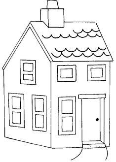 Casa cu etaj de colorat. Planse de colorat cu casute   Casa cu etaj Pj, Coloring Pages, Unicorn, Diagram, Education, Amazing, Houses, Birth, Quote Coloring Pages