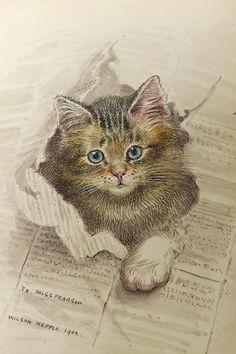 vintage cat by valentina.ivanova