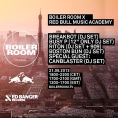Follow Bradley Zero and the Boiler Room to Paris to launch the state of the art Red Bull Music Academy #BoilerRoom #BoilerRoomTV #RedBullMusicAcademy #RBMA #Studio55