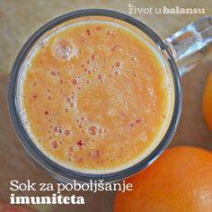 SOK ZA POBOLJŠANJE IMUNITETA  Ukusan način da osnažite svoj imunitet ove zime. Pogledajte kako da napravite ovaj osnažavajući napitak od samo tri ukusne i zdrave namirnice.  www.zivotubalansu.com/ishrana/prirodni-sokovi