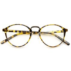 Vintage Dapper Indie Fashion Clear Lens Round Glasses 8768 from zeroUV