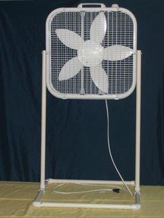 Box fan stand
