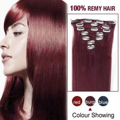 16 Inch 10pcs Straight Indian Clip In Remy Hair Extensions (Bug) 135g