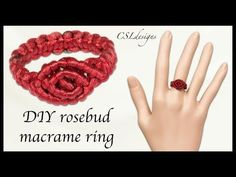 In this tutorial I show you how to make a Rosebuds micro macrame ring. You can make it to match my Rosebud micro macrame bracelet for a set of jewellery. Macrame Rings, Macrame Knots, Macrame Jewelry, Macrame Bracelets, Loom Bracelets, Jewlery, Diy Rings Step By Step, How To Do Macrame, Chevron Friendship Bracelets