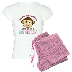 Cute Monkey Big Sister Women's Light Pajamas
