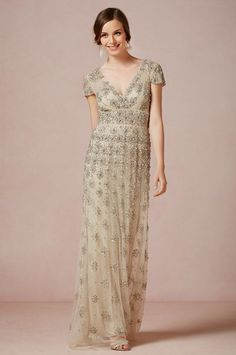 Beautiful vintage style dress perfect for bridesmaid or bride! BHLDN Fall 2013 | 100 Layer Cake