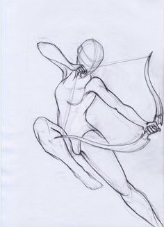 Pose Study Archer by aryaenne. on Manga Drawing Body Drawing, Drawing Base, Figure Drawing, Angel Drawing, Anatomy Drawing, Pencil Art Drawings, Art Drawings Sketches, Character Drawing, Character Design