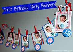 birthday party ideas for boys  | the red puppy dog tail hooks from Ikea that I knew would fit the party ...