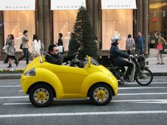 Funny little car, perfect for a big city - seen in Ginza, Tokyo
